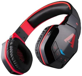 boAt Over-Ear Bluetooth Headset ( Black & Red )