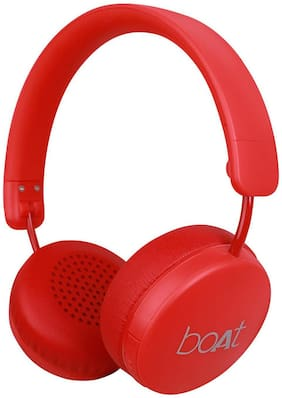 boAt Rockerz 440 Over-ear Bluetooth Headsets ( Red )