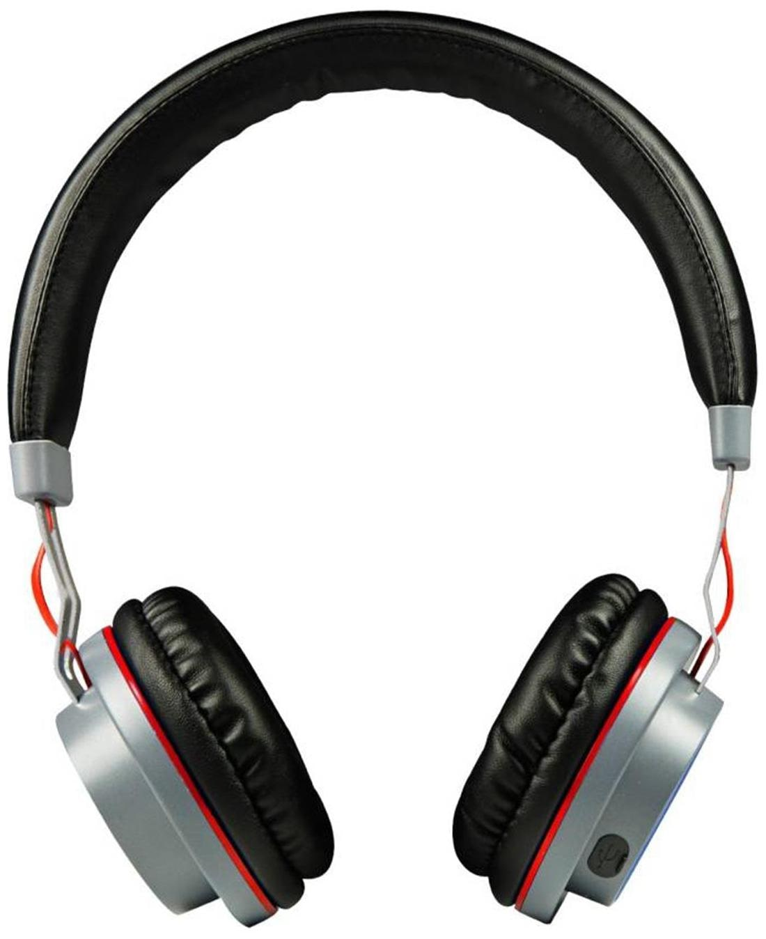 boat Rockerz 390 Headphone (Silver & Red)