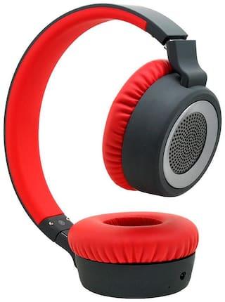 boAt ROCKERZ 430 On-ear Bluetooth Headsets ( Black & Red )