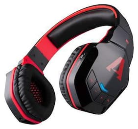 boAt Rockerz 510 Super Extra Bass Over-Ear Bluetooth Headphones with Mic (Black/Red)