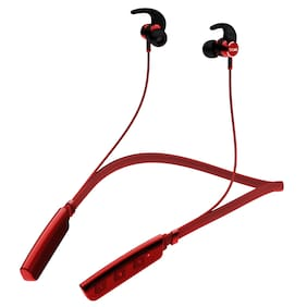 boAt Rockerz 235V2 Wireless Headset with ASAP Charge Technology;Immersive Audio;Up to 8H Playback;Bluetooth V5.0;Call Vibration Alert;Magnetic Eartips and IPX5 Water & Sweat Resistance (Red)