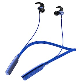 boAt Rockerz 235V2 Wireless Headset with ASAP Charge Technology;Immersive Audio;Up to 8H Playback;Bluetooth V5.0;Call Vibration Alert;Magnetic Eartips and IPX5 Water & Sweat Resistance (Blue)