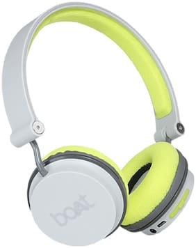 boAt ROCKERZ 400 On-ear Bluetooth Headsets ( Green & Grey )