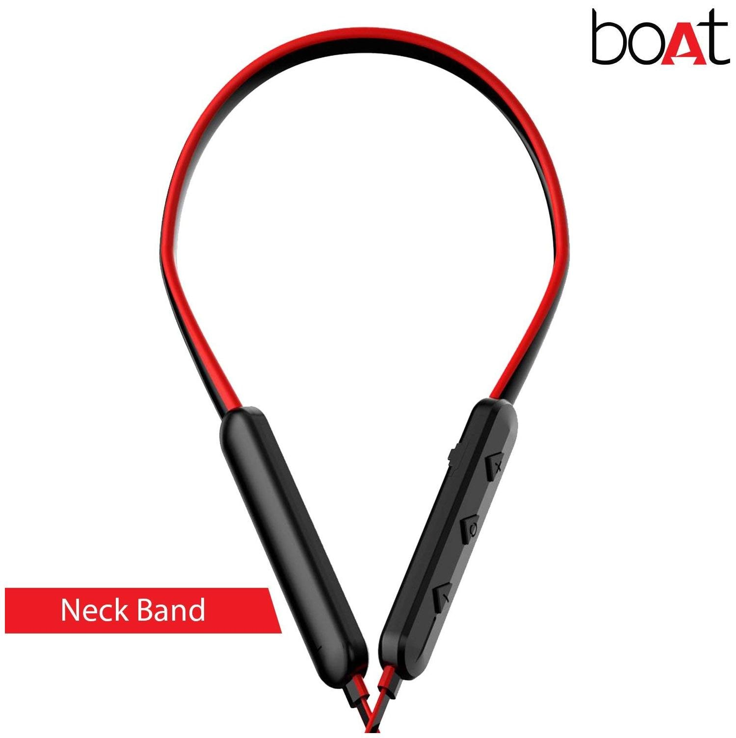 ddb35bb73a5 Buy boAt BassHeads 255 Wireless Bluetooth Headset (Red) Online at ...