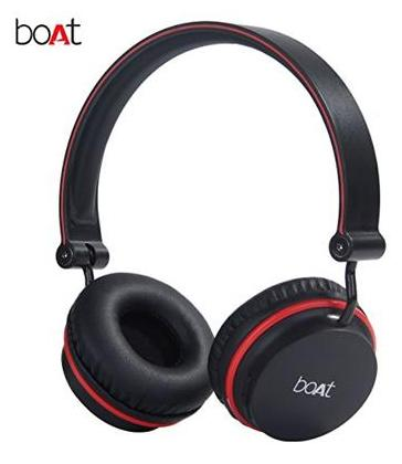 boAt Rockerz 400 Super Extra Bass On-Ear Bluetooth Headphones with Mic (Black/Red)