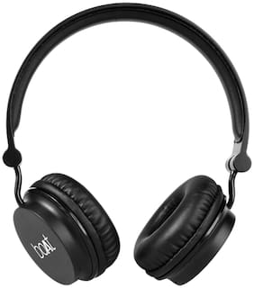boAt Rockerz 400 Super Extra Bass On-Ear Bluetooth Headphones with Mic (Carbon Black)