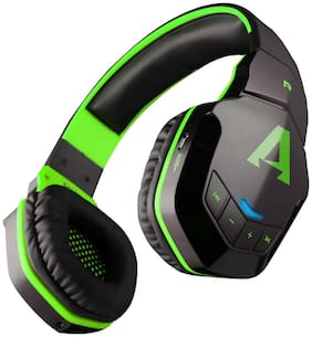 boAt Rockerz 510 Super Extra Bass Over-Ear Bluetooth Headphones with Mic (Viper Green)