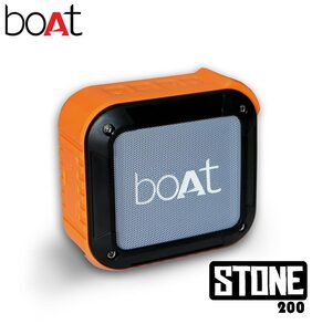 boAt Stone 200 Water and Shock Resistant Wireless Portable Speakers (Orange)