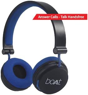 boAt Rockerz 400 Super Extra Bass On-Ear Bluetooth Headphones with Mic (Black/Blue)