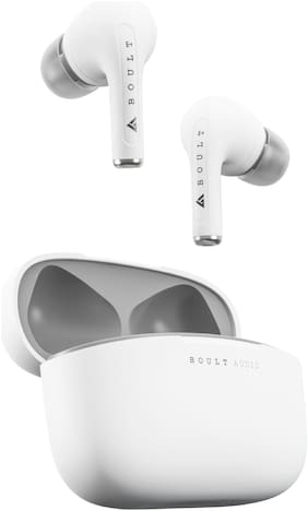 Boult Audio Airbass Freepods True Wireless Bluetooth Headset ( White , Grey )
