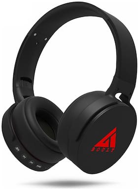 Boult Audio Over-Ear Bluetooth For All Smartphones(Black)