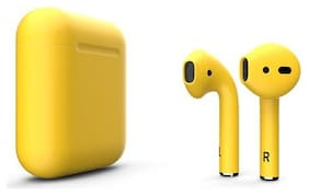 BTK Trade InPods-12 In-Ear Bluetooth Headset ( Yellow )