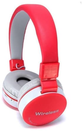 BTK Trade MS-881A Over-Ear Bluetooth Headset ( Red & White )