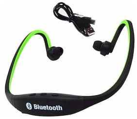 BTK Trade BS19C In-Ear Bluetooth Headset ( Green & Black )