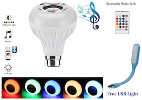 BTK Trade BULB SPEAKER Bluetooth Portable Speaker ( White )
