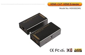 Tech GearC HDMI Extender Over Single Cat 5e Cat 6 Lan Cable 196FT 60M 3D Capab...