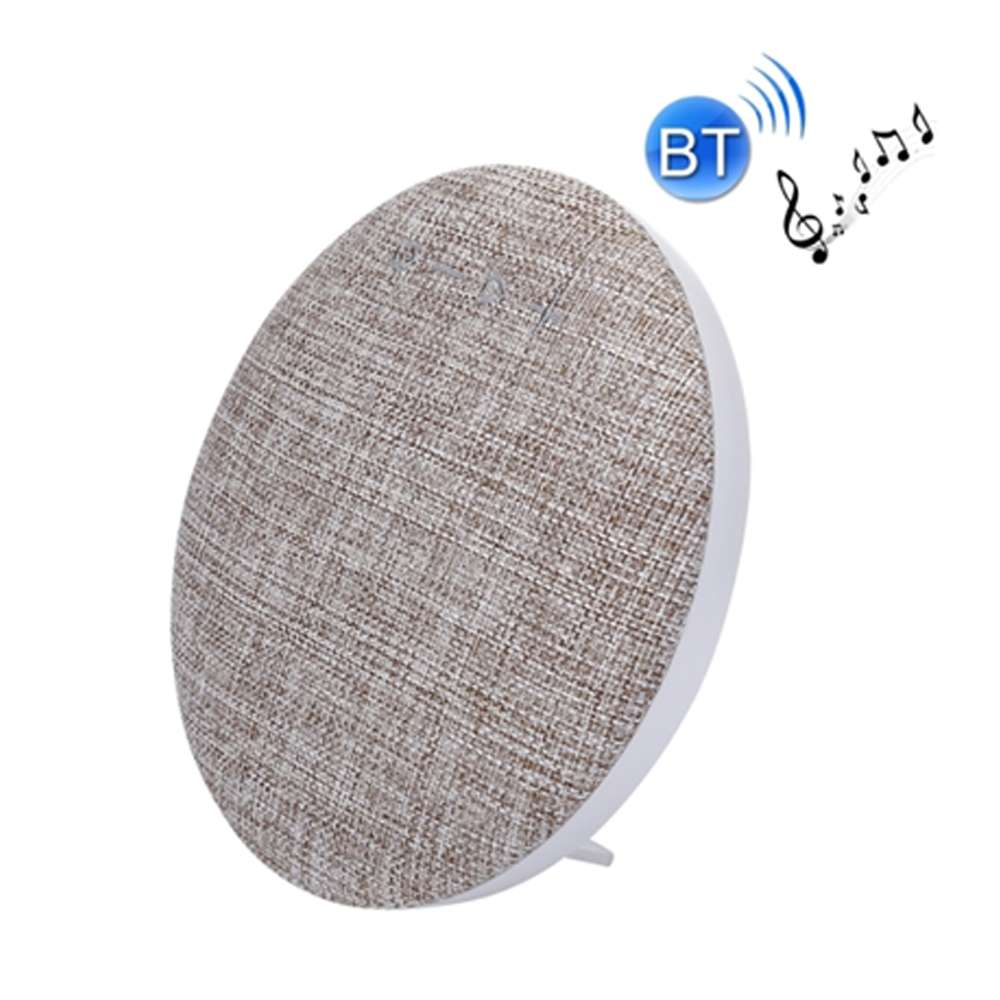 Callmate HDY-001 Portable Round Shaped Fabric Design Bluetooth Stereo Speaker with Built-In MIC Support