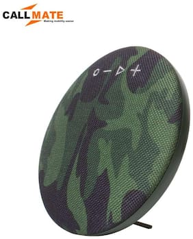Callmate HDY-001 Portable Round  Shaped  Fabric  Design  Bluetooth  Stereo Speaker with Built-In MIC, Support