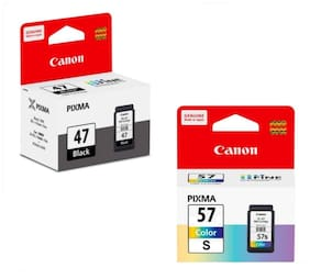 Canon Combo Pg 47 and Cl 57 Small Ink Cartridge Set of 2