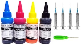 White Sky Canon Printer Refill Ink for Canon Pixma MX 416   MX 426   MX 517   MX 527  MX 537   MX 927  - 75ml x 4 Bottles with Thumb Drill and Syringes