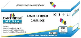 CARTRIDGE MEDIA 79A Toner Cartridge Compatible for HP CF279A Black Toner Cartridge for Laserjet Printer Pro MFP M26, Laserjet Pro MFP M26nw, Laserjet Pro M12w