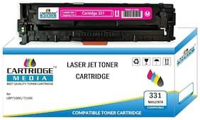 CARTRIDGE MEDIA CRG 331 Magenta Compatible Toner Cartridge for Laserjet Printer Laser Shot LBP7110Cw, Laser Shot LBP7100Cn, imageCLASS MF8210CN, MF8280Cw Printer Cartridge (Magenta)