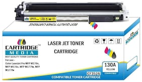 CARTRIDGE MEDIA 130A Compatible for Hp CF352A Yellow Toner Cartridge for HP Color Laserjet Printer Pro M176 MFP, M176n MFP, M177 MFP, M 177fw MFP (Yellow)