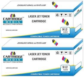 CARTRIDGE MEDIA 912 Compatible CRG 912 Black Toner Cartridge for Laserjet Printer-LBP3018,LBP3010,LBP3050,LBP3020, LBP3100,LBP3150,LBP3018,LBP3010,LBP3050, LBP3020,LBP3100,LBP3150 (Pack of 2)