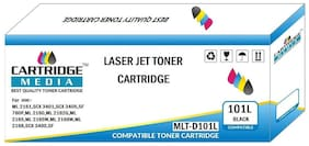 CARTRIDGE MEDIA 101S Compatible for Samsung MLT-D101S Black Laserjet Toner Cartridge for Samsung Laser Printers ML2160 ML2161 ML2162G ML2165 ML2165W ML2166W ML2168 SCX3400 Black Printer Cartridge