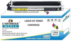 CARTRIDGE MEDIA 126A, CE313A Magenta Toner Cartridge for HP Laserjet Printer, MFP M175nw, CP1025nw, M275 MFP