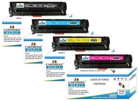 CARTRIDGE MEDIA 304A Compatible Pack of 4 Color for HP CC530A Black CC531A Cyan CC532A Yellow CC533A Magenta Toner Cartridge for Hp Laserjet Printer CP2025 2025n 2025d 2025x 2320 2320fxi 2320n (1 Set)