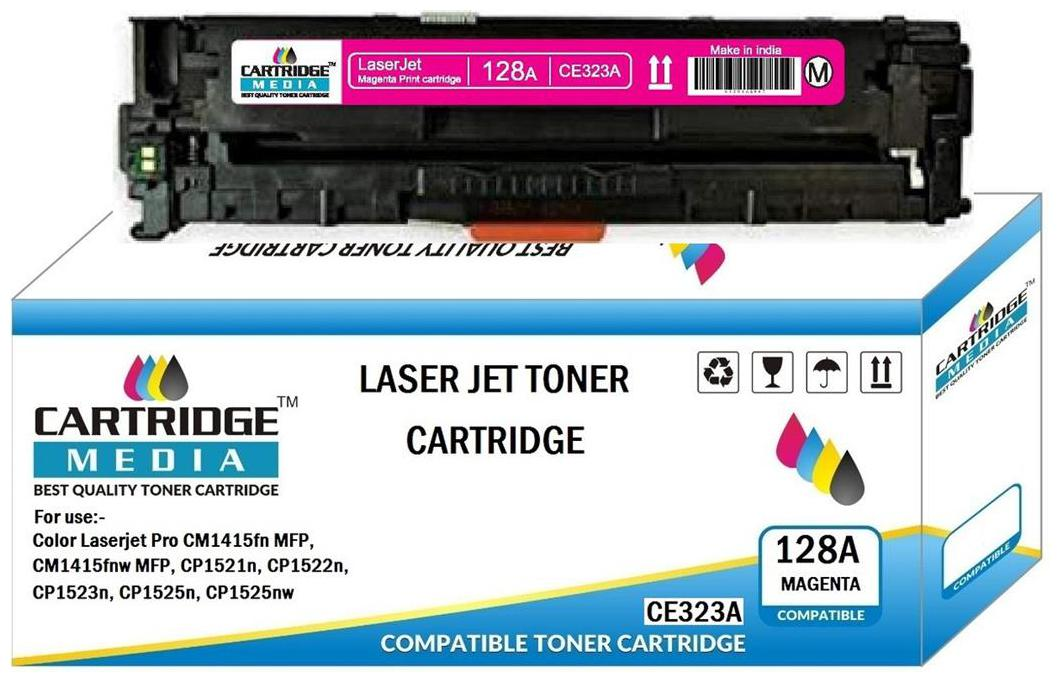 CARTRIDGE MEDIA 128A Compatible for Hp CE323A Magenta Toner Cartridge for HP Laserjet Printer  CM1415FNW, CM1415FN, CP1520, CP1525,CP1525N, CP1525NW,