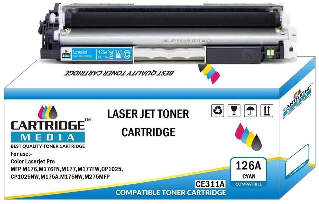 CARTRIDGE MEDIA 126A, CE311A Cyan  Toner Cartridge for HP Laserjet Printer, MFP M175nw, CP1025nw, MFP M175nw