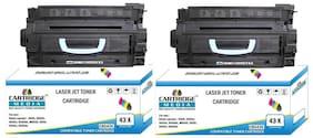 CARTRIDGE MEDIA 43X Compatible Toner Cartridge C8543X Black HP Laserjet Printer - 9000, 9000n, 9040n, 9040dn, M9040, 9050, 9050n, 9050dn Single Color Toner (Black Pack of 2)
