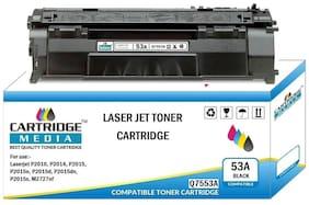 CARTRIDGE MEDIA 53A Compatible for Hp Q7553A Black Toner Cartridge for HP Laserjet Printer - P2010, P2014, P2015, P2015n, P2015d, P2015dn, P2015x, M2727nf