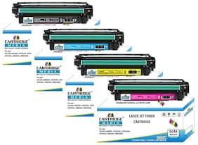 CARTRIDGE MEDIA 504A 4 Color Pack Hp (CE250A CE251A CE252A CE253A) Toner Cartridge for Hp Laserjet Printer CP3525,3525n,3525dn,CM3530,3530fs