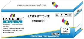 CARTRIDGE MEDIA 30A Toner Cartridge Compatible for HP CF230A Black Toner Cartridge Laserjet Printer M203 M203d M203dn M206dnM227 M227s M227d M227fdn MFP M227fdw M227sdn M230fdw M230sdn (Pack of 2)