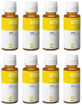 Cartridge Vista Compatible HP GT51 GT52 Ink Yellow Pack of 8 Ink bottle for Compatible Printers for HP Gt5810  Gt5811  Gt5820  Gt5821  310  315  319  410  415  419
