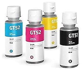 Cartridge Vista Compatible HP GT 51/52 Multicolor Pack of 4 Ink bottle for HP Gt 5810, Gt 5811, Gt 5820, Gt 5821, 310, 315, 319, 410, 415