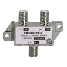 Channel Plus Open House 2532 Diplexer 2 Way Signal Splitter Combiner 1 GHz