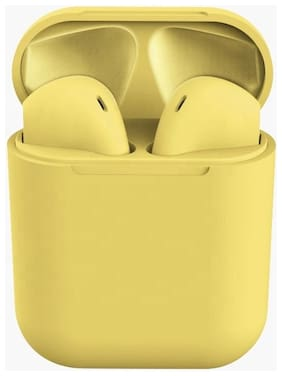 TSV INPOD YELLOW In-Ear Bluetooth Headset ( Yellow )