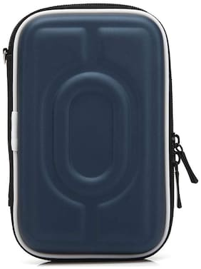 CoolBELL Travel Hard Disk Case Pouch Cable Organizer Electronic Accessories Bag (Blue)