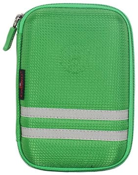 CoolBELL Travel Hard Disk Case Pouch Electronic Accessories Bag (Green)