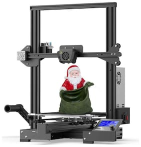 Creality Ender 3 Max Upgraded 3D Printer with Meanwell Power Supply, Silent Mainboard, Tempered Carborundum Glass Plate, Large Print Size 300x300x340mm,and All Metal Extruder