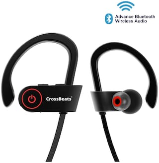 Buy Crossbeatstm Raga Wireless Bluetooth Headset Headphones With Bass Secure Fit Bluetooth V4 1 8 Hrs Playtime Built In Mic Ergonomic Designed Ear Hooks Black Online At Low Prices In India Paytmmall Com