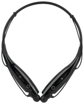 Crystal Digital Hsb-730 Collar Wireless Neck Band Bluetooth Earphone with Noise Isolation, in Built Mic, Stereo Sound, Thumping Bass (Black)