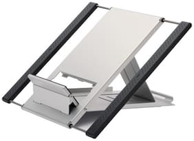 Defianz Riser Aluminium- Plastic Laptop Stand (Silver & Black)