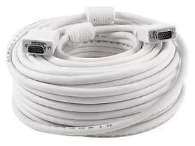 DEHMY VGA Cable (Male to Male) 15 Meter - Supports PC, Monitor, TV, LCD/LED, Plasma, Projector, TFT