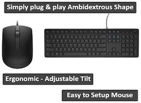 Dell Kb 216 ms116 Wired Keyboard & Mouse Set ( Black )